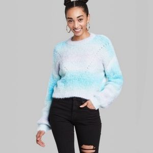 Target Wild Fable Blue Space Dye Crewneck Pullover